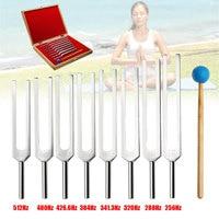 ZEAST 8Pcs/Set Aluminum Medical Tuning Fork Healing Sound Vibration Therapy 256Hz+288Hz+320Hz+341Hz+384Hz+426Hz+480Hz+512Hz