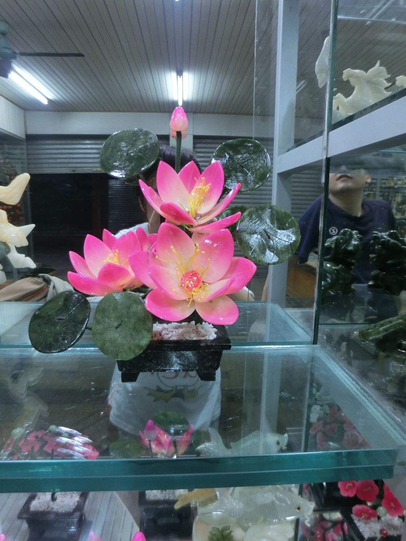 Jade bonsai making small crafts fashion Home Furnishing Decor desk ornaments jewelry 3 lotus