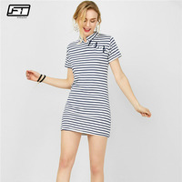 Fitaylor Summer Women Dress 2018 Casual Striped Slim Mini Pencil Cotton Women S Dresses Beach Plus