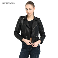 2018 New Fashion Women Autunm Winter Wine Red Faux Leather Jackets Lady Bomber Motorcycle Cool Outerwear