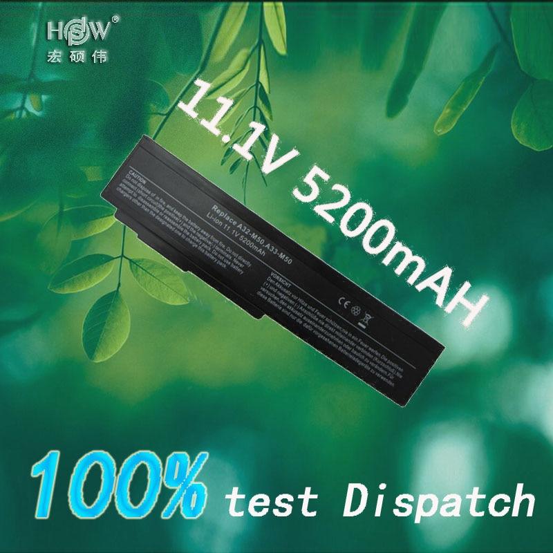 HSW 5200mah Laptop Battery for Asus N53S N53SV A32-M50 A32-N61 N53 A32 M50 M50s A33-M50 N61 N61J N61D N61V N61VG N61JA N61JV jigu 6cells laptop battery for asus n61 n61j n61jq n61v n61vg n61ja n61jv n53 m50 m50s n53s a32 m50 n61 x64 a33 m50