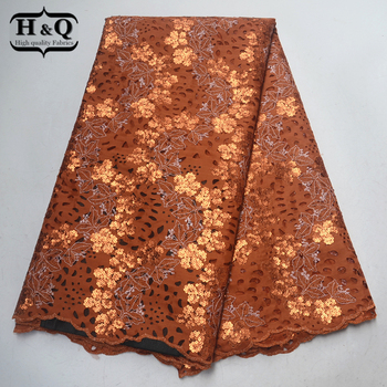 Best selling Nigeria Velvet Lace Fabrics High Quality Embroidery With Sequins Beads Hollow Design African Fabric For Dress women