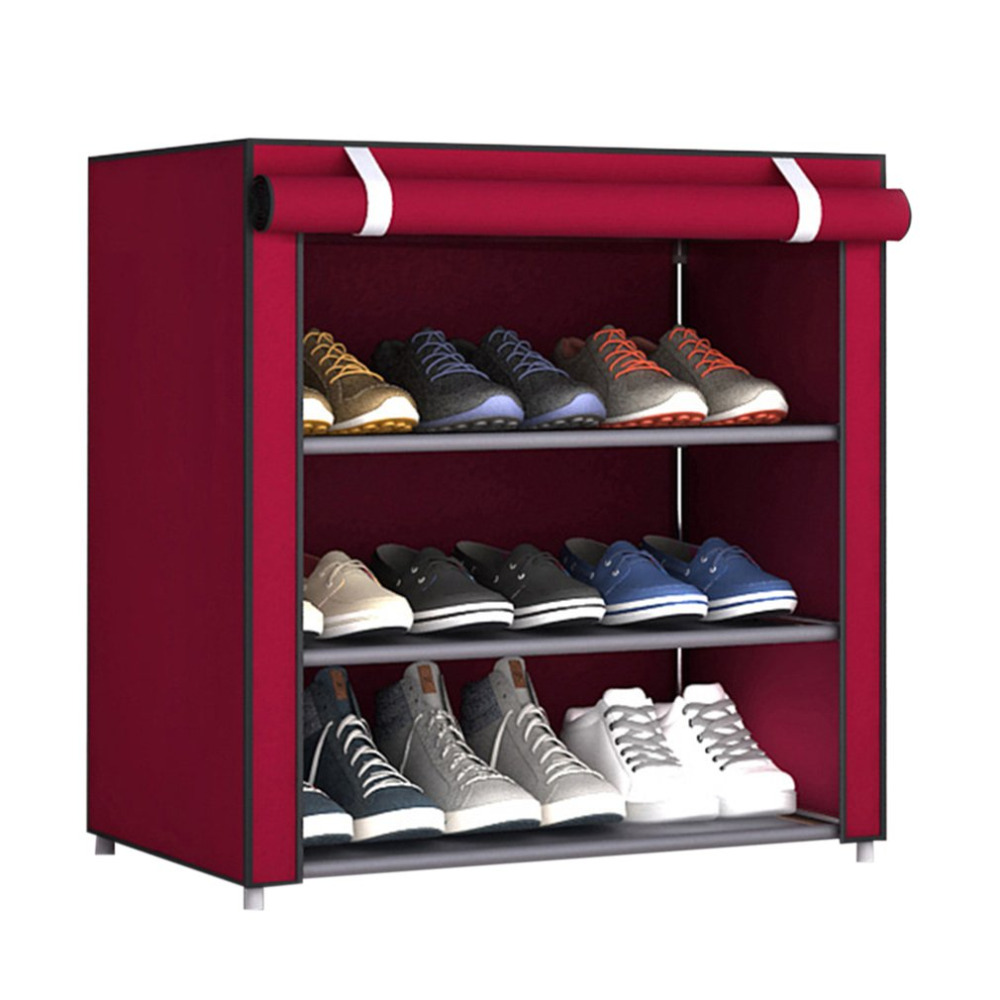 Dustproof  Non-Woven Fabric Shoes Rack Organizer Home Bedroom Dormitory Shoe Racks Shelf Cabinet free shipping