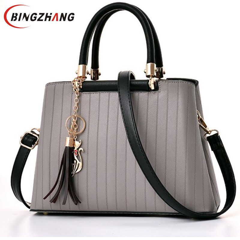 Women tassel Handbags 2018 High Quality casual Women Bags Women PU Leather Shoulder Messenger Bags Sweet Tote Bag Bolsa  L8-112 new 2016 women bag vintage canvas handbags messenger bags for women handbag shoulder bags high quality casual bolsa l4 2669