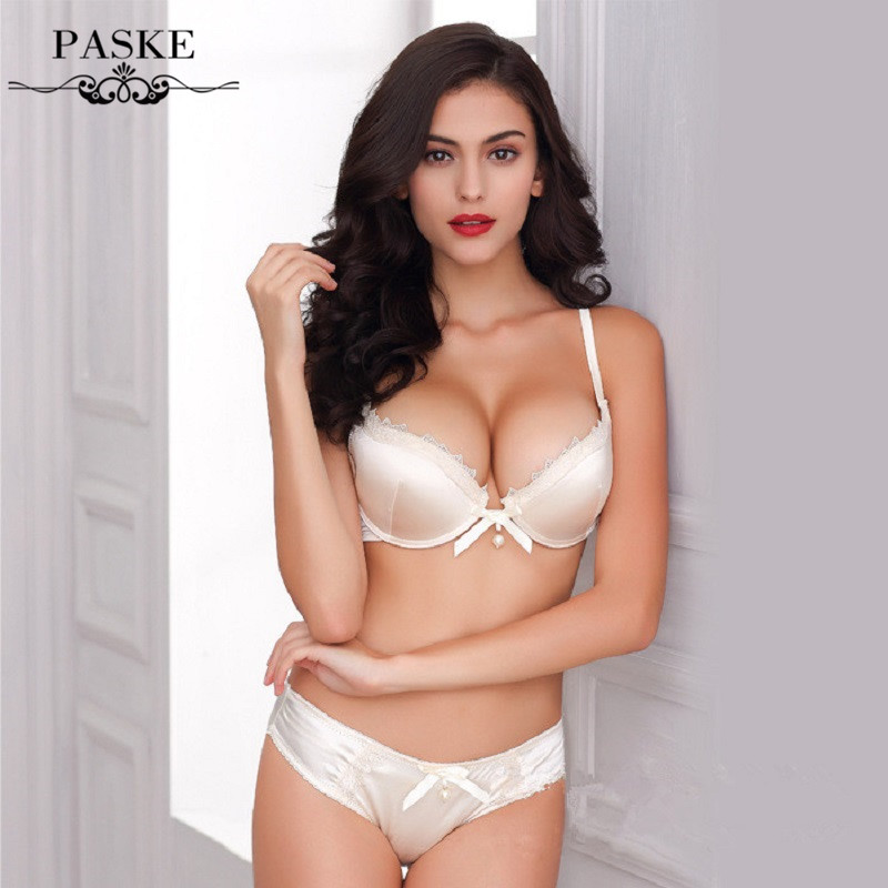 e06589f61a4 New brand noble lace silk glossy bra sets underwear push up bras with sexy  lingerie set