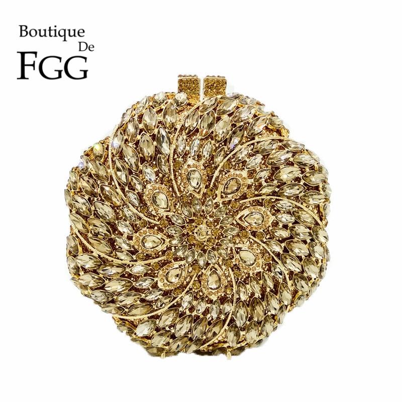 Dazzling Multi Diamantes de Cristal Bolsos de Tarde Del Embrague de Las Mujeres