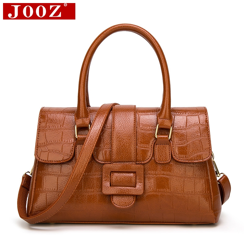JOOZ Boston Luxury Handbags Women Bag Designer Alligator pattern leather tote bag Famous Brand High Quality ladies messenger bag