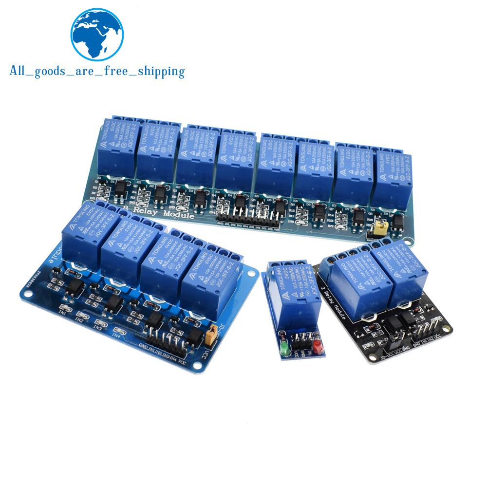 TZT 1pcs 5v 12v 1 2 4 6 8 channel relay module with optocoupler. Relay Output 1 2 4 6 8 way relay module for arduino In stock 13