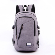 T-Plants External USB Charge Backpacks for Men and Women Canvas School Bags Travel Rucksack Large Capacity Laptop Computer Bag