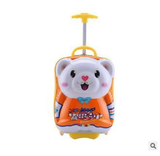 Bear kids suitcase for travel luggage suitcase for girls Kid wheeled bags travel suitcase Children Rolling suitcase for Boys фото