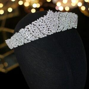 Image 5 - ASNORA Cổ Điển CZ Đính Đá Cubic Zirconia Cưới cô dâu Mũ Đội Đầu Thái Đầu nữ Dự Tiệc Phụ Kiện Trang Sức