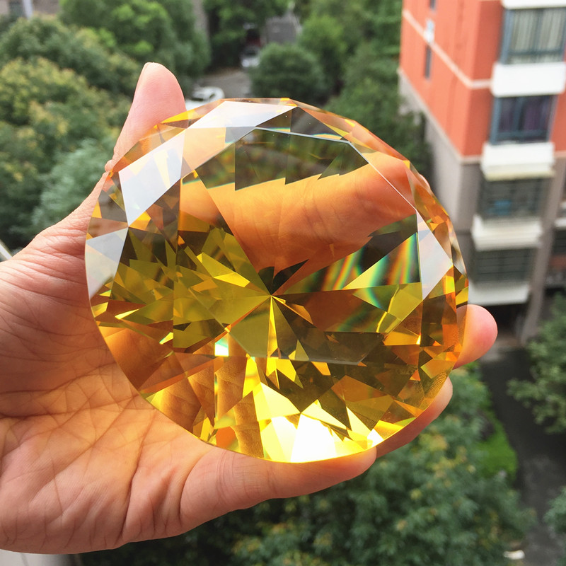 100mm Multi colored Crystal Glass Diamond Paperweight Fengshui for Home Decor Birthday Wedding Hight Quality