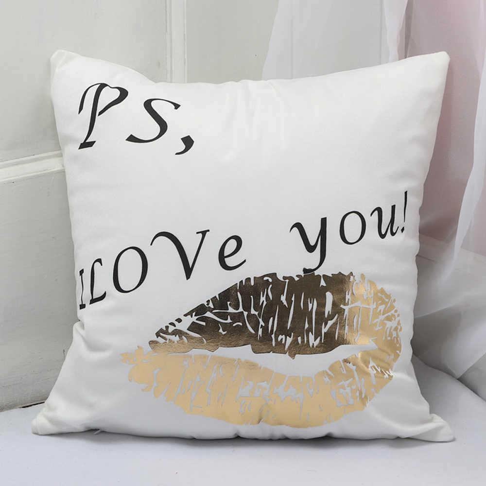 Moda 45x45 patrón brillante funda de almohada cama decoración del hogar funda de almohada decorativa almohadas de Navidad cubierta de reloj