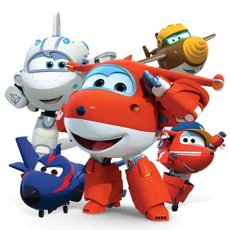 Cartoon Robot Toy : Super wings big size package cartoon transformation kids