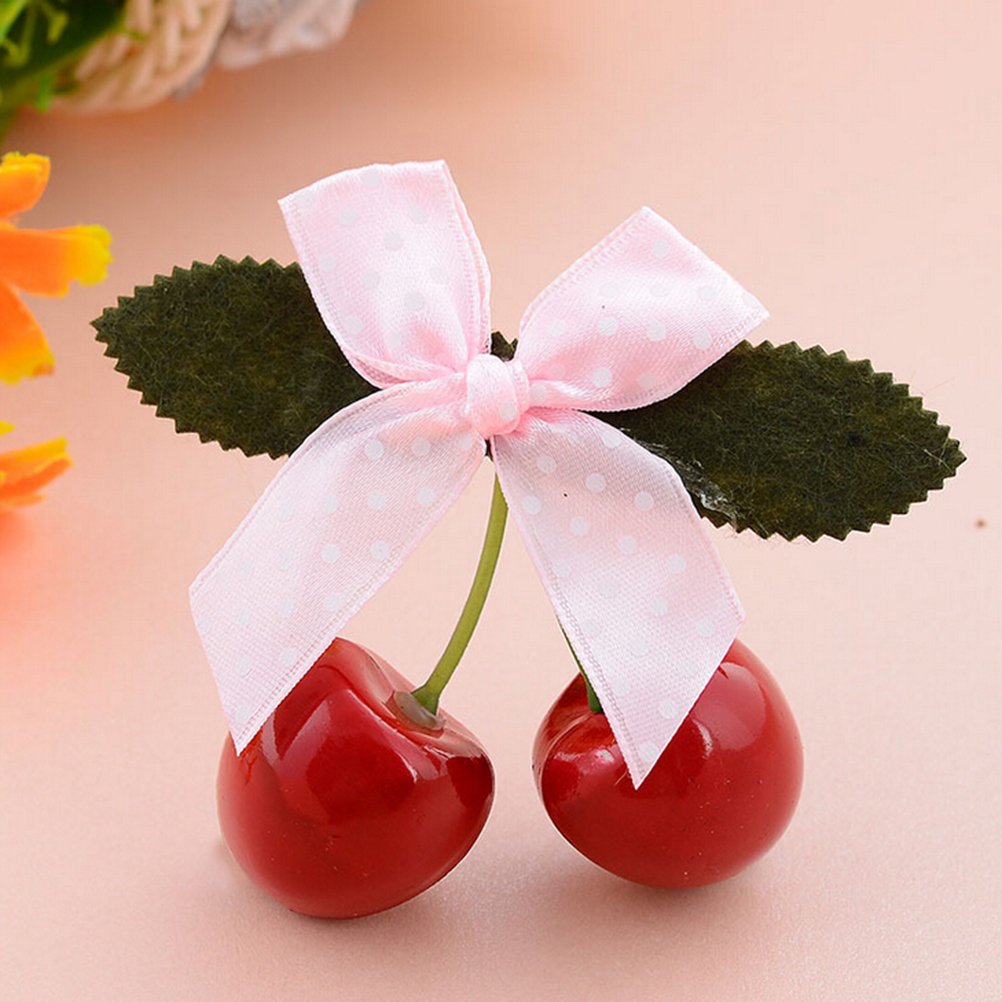 G Red Cherry Bow Hair Clip for Pinup girls Retro Vintage rockabilly ...