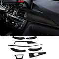 Ace speed-carbon fiber for BMW F30 (13-15) car Inner molding trim interior mouldings car stickers Inner decoration cover (8 psc)
