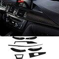 Ace velocidade - fibra de carbono para BMW F30 ( 13 - 15 ) car Inner moldagem trim interior molduras adesivos de carro decoração interior cover ( 8 psc )