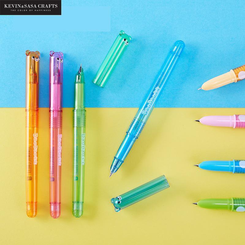 4Pcs/Set Fountain Pen Cute Pen Stationery Kawaii School Supplies Gel Ink Pen School Stationery Office Suppliers Pen Kids Gift