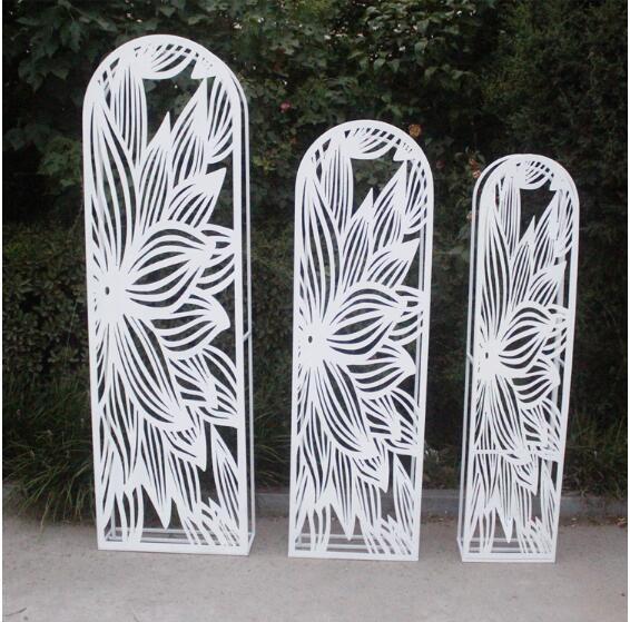 Nouveau mariage fer fond écran accessoires arc fer sculpture écran scène fond décoration neige lotus écran.