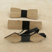 Bamboo Wooden Bow Tie Wedding Party