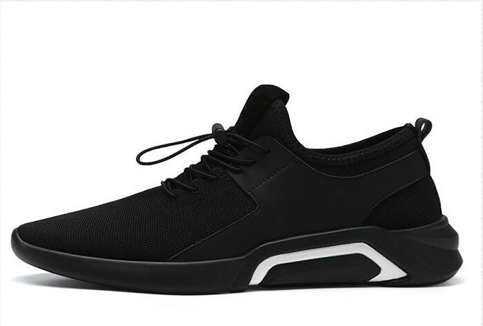 Del Deporte Comodidad Hombre blanco 2019 Zapato Hombres Casual Zapatos De Zapatillas Luz Transpirable Los Moda Malla Diseño Negro Ocio Pwx0qRx1Y