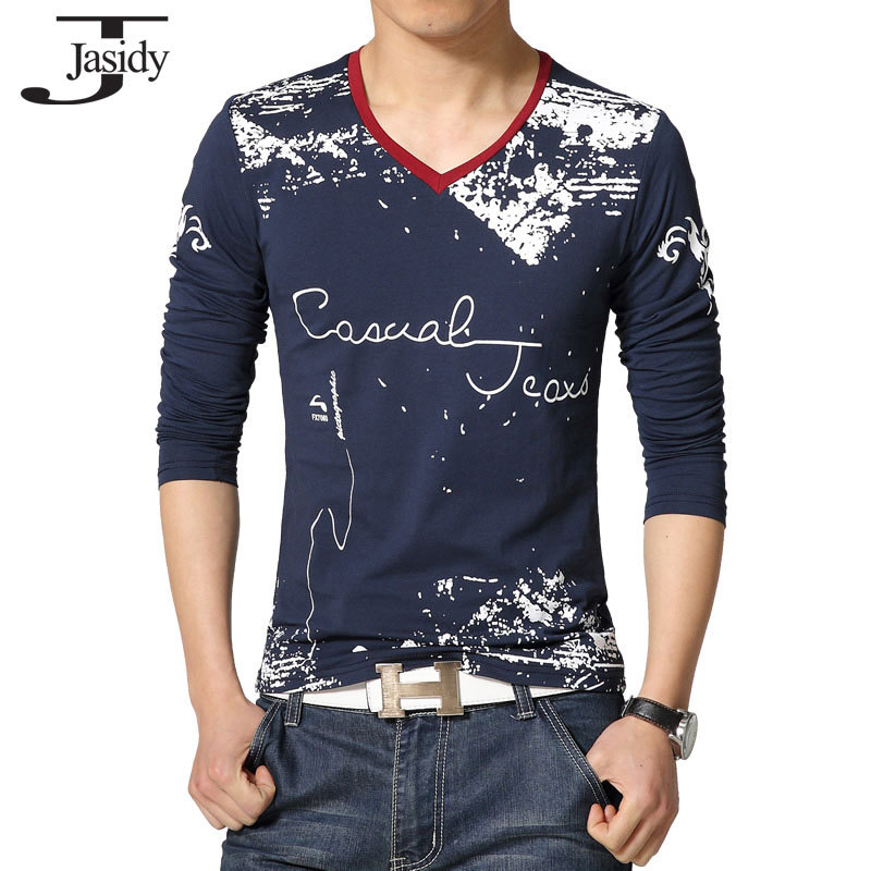 M 5xl long sleeve print t shirts mens lycra fashion cotton for Print photo on shirt