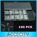 U119   10 Box/Lot Dual Form Nail System For UV GEL Acrylic Nail Art Mold Tips Decoration