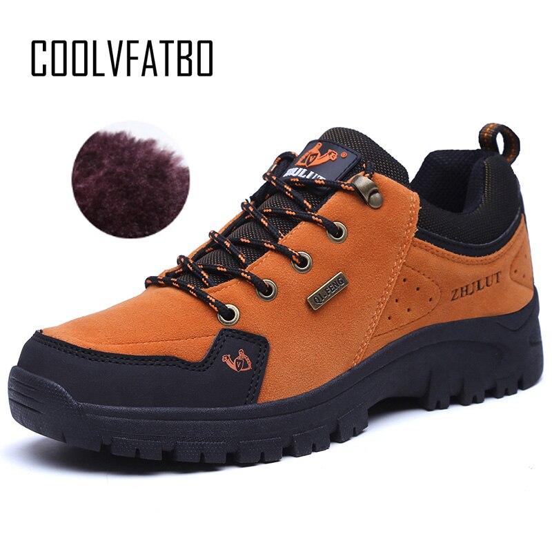 COOLVFATBO2018 Frühling Männer Leder Stiefel Mode Wasserdichte Runde Kappe Turnschuhe Herren Kampf Wüste Casual Schuhe Große Plus Größe 47