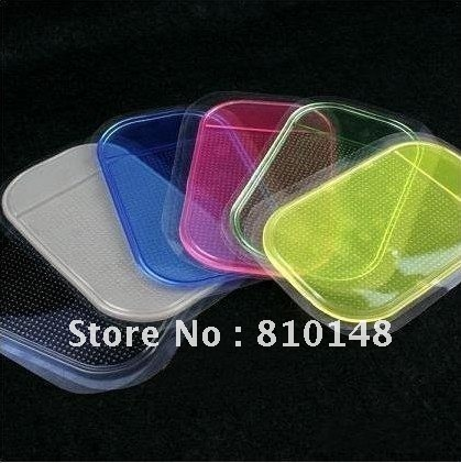 50pcs/lot free shipping Car anti slip pad strong sticky pad 2 color mix order PU mat mobile phone mp3 mp4 excellent performance