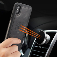 Роскошный Ретро Чехол кошелек для iPhone Xr 7 8 6 6s Plus X Xs Max, съемный кожаный чехол книжка для кредитных карт 2 ID
