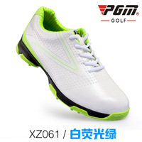 עמיד למים לנשימה נעלי גולף של הגברים עור השכבה הראשונים נגד החלקה אחיזה טובה עיצוב פטנט עמיד חיצוני ספורט