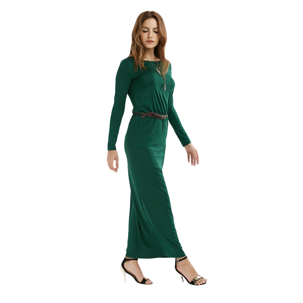 VESTLINDA Vintage Vestidos Longo Jurken Women Maxi Dress Full Sleeve Casual Dress Autumn A Line Solid Ropa Mujer Long Dress 12
