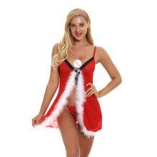 Открытый Перед кружевное сексуальное женское белье горячей эротический ночной комплект сексуальная сорочка Нижнее белье Для женщин, одежда для сна, рождественские костюмы, косплей домашняя одежда