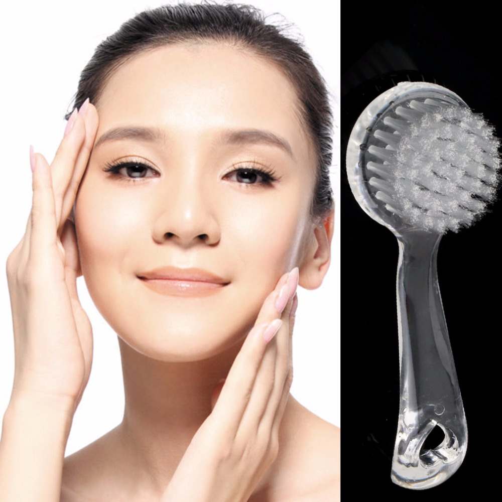 Exfoliating Facial Cleanser Brush Face Cleaning Washing Cap Soft Bristle Brush Scrub Plastic Non-electric Cleansing Brush