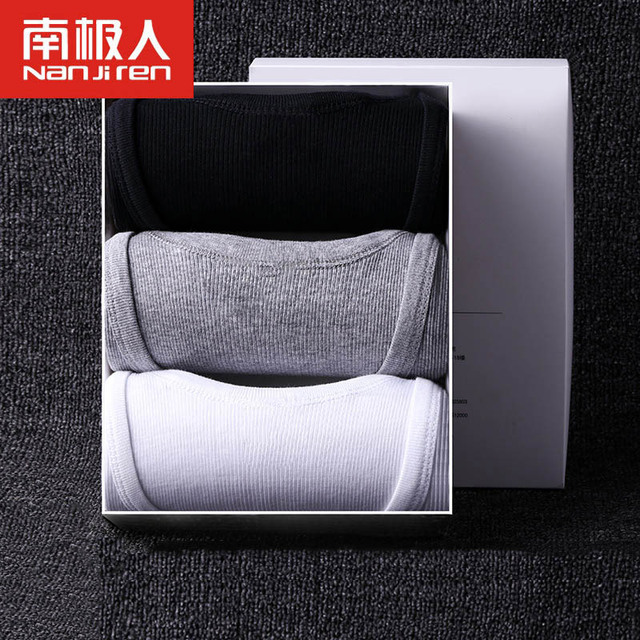 3PCS Sexy Mens Undershirts Causual Tops Vest Shirts Solid Cotton O Neck Slim Male Underwear Bottoming Shirt for Men