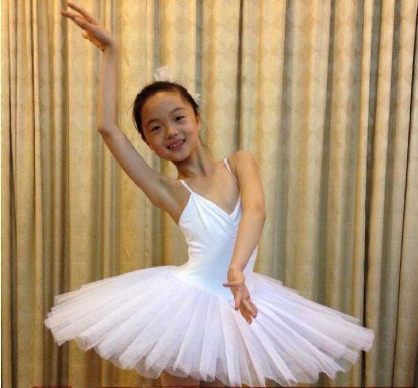 Professional Ballet Tutu White Swan Lake Dance Costume Pancake Girls Classical Ballet Tutu Leotard Ballet Dress For Kids