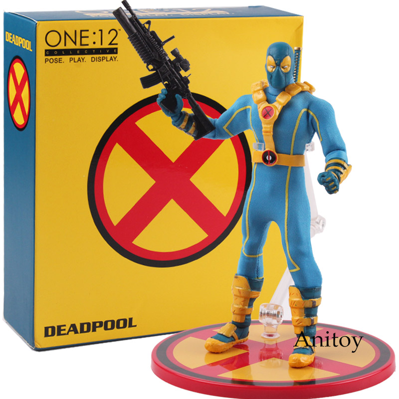 One:12 Collective Deadpool Pose Display Figurine Marvel NECA X-men Deadpool 1:10