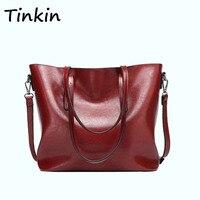 Tinkin Bolso hombro estilo europeo Bolso mujer retro gran capacidad estilo simple Bolso uso diario Bolso compras