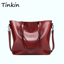 Tinkin Europe Style Shoulder Bag Retro Women Handbag High Capacity Simple Style Tote Daily Shopping Bag