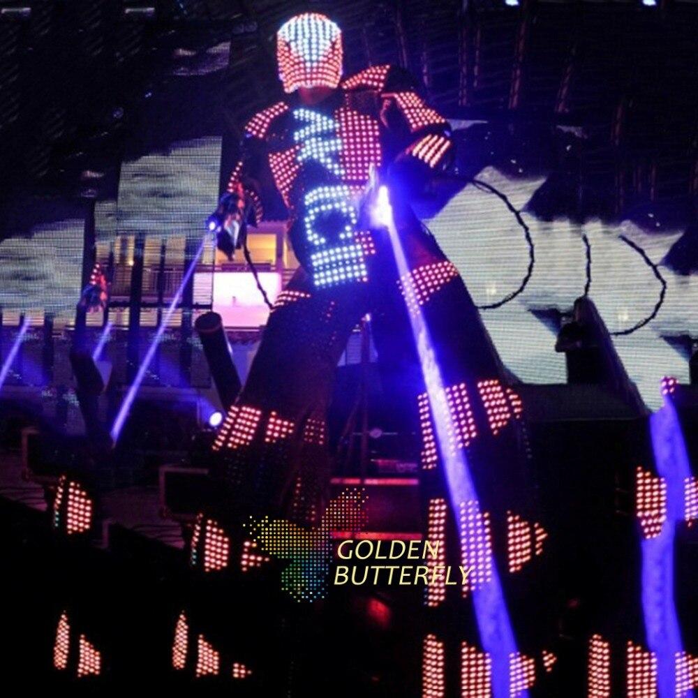 led lights costumes LED Clothing Light Suits LED Shirts LED Robots Kryoman Robot size Customized Color