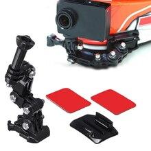 Support de caméra ensemble allongé moto casque léger menton montage réglable facile installer Portable Multi Angle pour GoPro