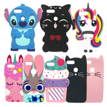 For Huawei Honor 7X Case Honor7X 3D Cartoon Rainbow Unicorn Cat Rabbit Cases Soft Silicone Pink Horse 7 X Cover