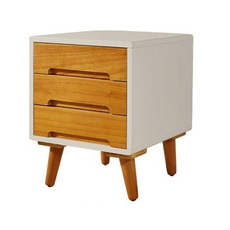 All Nordic cupboard simple creative bedroom side cabinet storage cabinets bedside lockers antique vintage wood bedside cabinet straw small cabinet drawer storage cabinets lockers simple paulownia wood