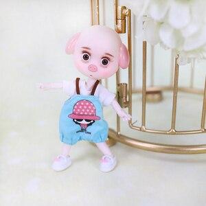 Image 5 - DBS 1/12 BJD 26 шарнирное тело Милая свинья ob11 кукла с одеждой обувью детский подарок 15 см мини кукла имя DODO