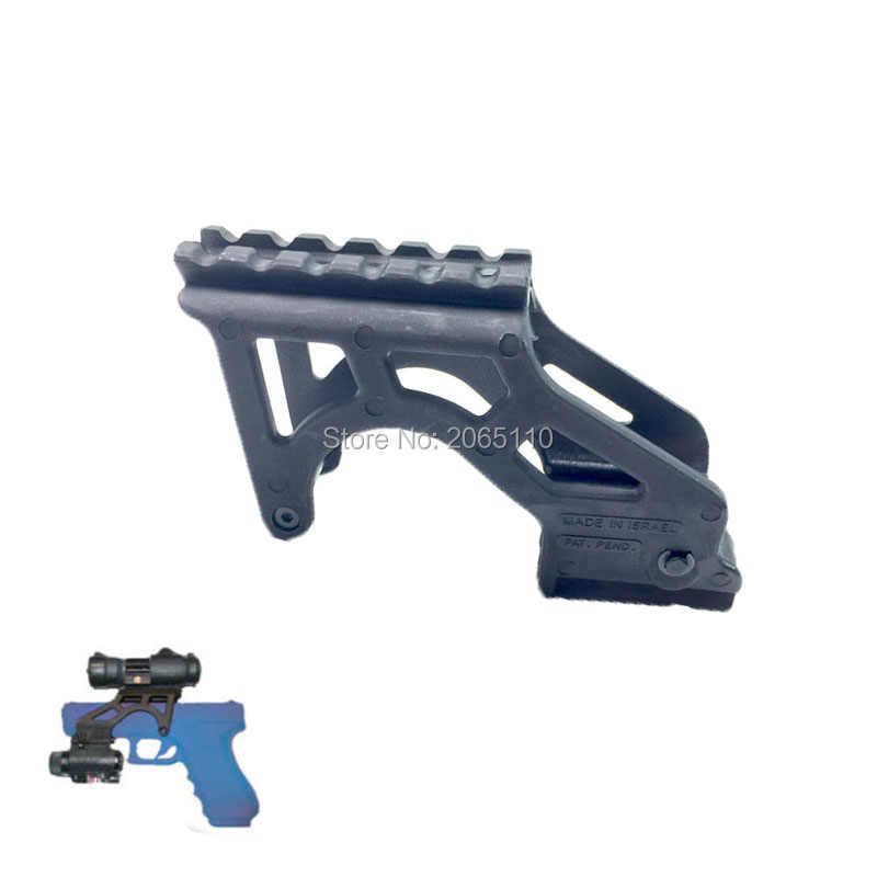 Tactical GIS Glock Black Polymer Laser Mount Flashlight Rail Mount For  Glock Pistol 17 19 20 21 22 23 34 Gen 3 & 4