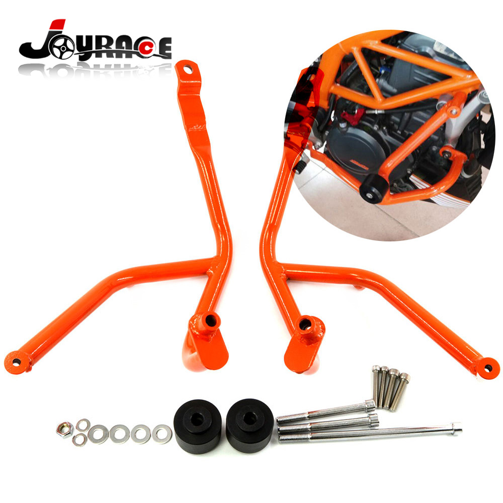 Good Quality Metal Motorcycle Crash Bars Frame Guard Protector for KTM DUKE 390 цена 2017
