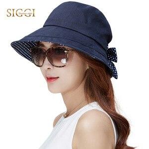 Image 2 - FANCET льняная летняя шляпа от солнца для женщин Панама шляпы для женщин для пляжа женские широкие поля UPF50 + УФ ремешок для подбородка шляпы Модные 89009