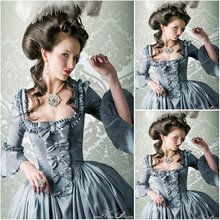 Freeshipping!Hot sale 19 Century Victorian Dress1860S  Scarlett Civil War Southern Belle dress Halloween dresses US4-36 C-907