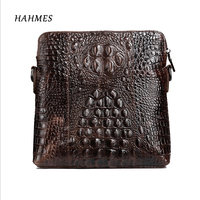2017 Hot Crocodile Grain Genuine Leather Bag Male Bags Messenger Casual Men S Bag Flap Cross