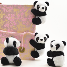 1 pcs creative Plush Panda Clip Small Stuffed Animal Toy Curtain Clip Bookmark Notes Souvenir Toys for children(China)